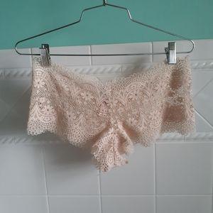 Victoria's Secret Nude Lace Boy Short